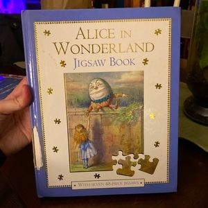 Alice in Wonderland jigsaw book from UK